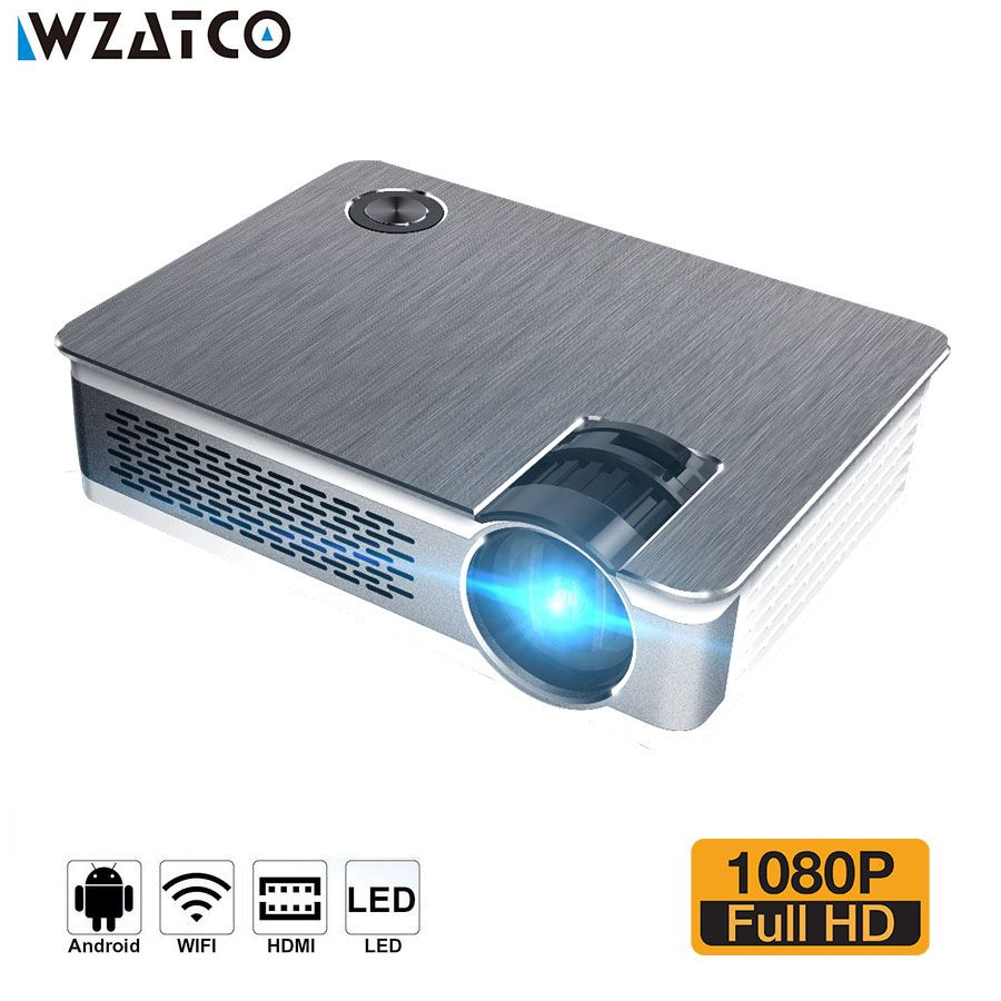 WZATCO CT580 Android 7.1 Volle HD LED Projektor 3800 Lumen Home Theater Tragbare Echt 1080 p Hohe Auflösung Beamer LED Proyector