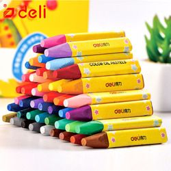 Deli Wax Crayon Kids Oil Painting Stick Candy Color Oil Pastel Crayon Child Safety Non-toxic Pastel 8/12/24/36/48 Colors Per Box