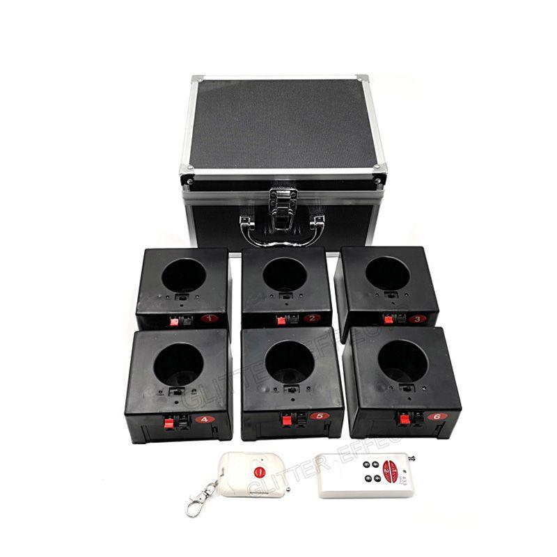 D06 doppel fernbedienung wireless 6 cues empfänger bühne hochzeit ausrüstung feuerwerk brunnen basis maschine