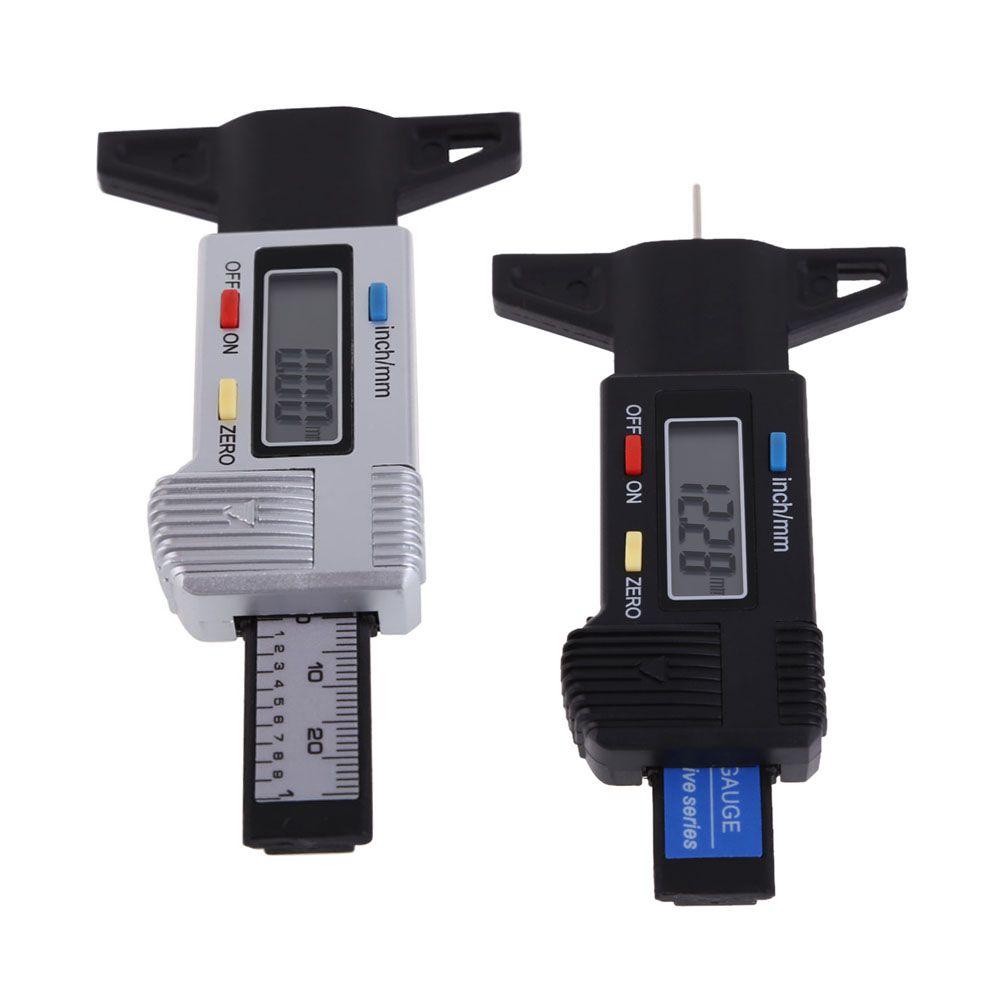 New Car Tyre Digital Tread Brake Pad Shoe Gauge Depth Tester Guage LCD Digital Display Car Tire Diagnostic Tools ME3L