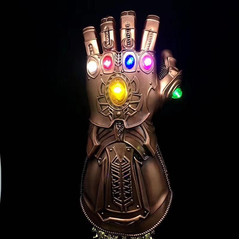 Thanos Led Infinity Gauntlet Action Figures Cosplay Superhero Iron Man Anime Avengers Infinity War Thanos Led Glove Halloween