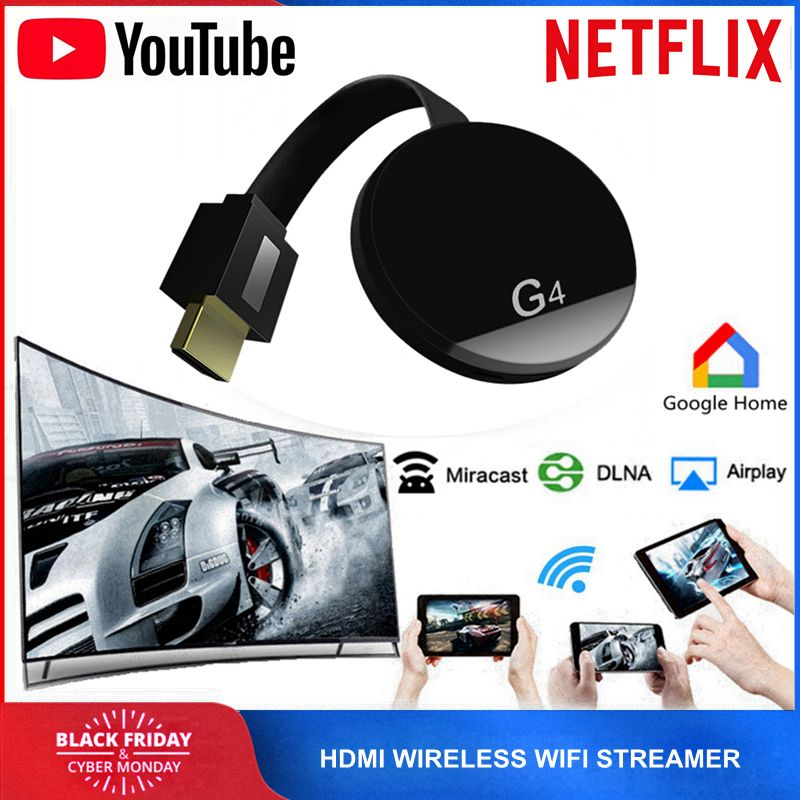 HDMI WiFi Wireless TV Dongle Miracast Airplay YouTube Netflix Streamer for Google Chromecast 2 Cromecast Chrome Crome Cast 2 3