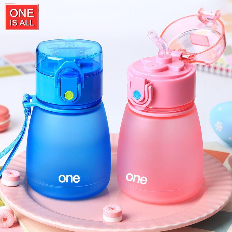 Bebé botella de agua de plástico 308 ml a prueba de fugas deportes botella niño té vaso Ciclismo plástico hervidor deporte olla 308 ml