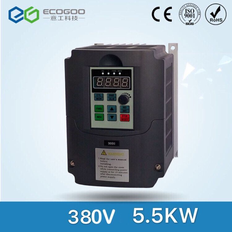 General VFD 5.5kW 380V Three-phase 380V input Three-phase 380V output motor speed controller Inverter frequency converter