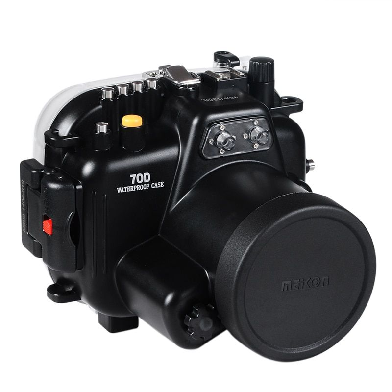 Waterproof Underwater Housing Camera Housing Diving Case for Canon 70D 18-135mm Lens
