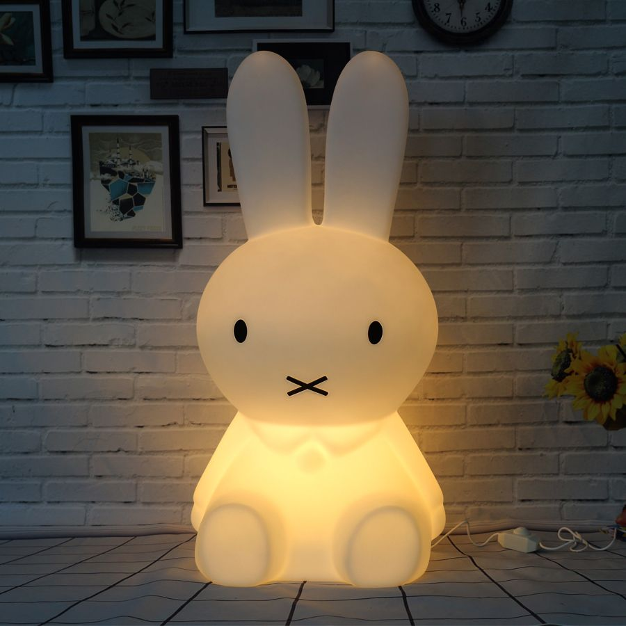 50CM Rabbit Led Night Light Dimmable for Children Baby Kids Gift Animal Cartoon Decorative Lamp Bedside Bedroom Living Room