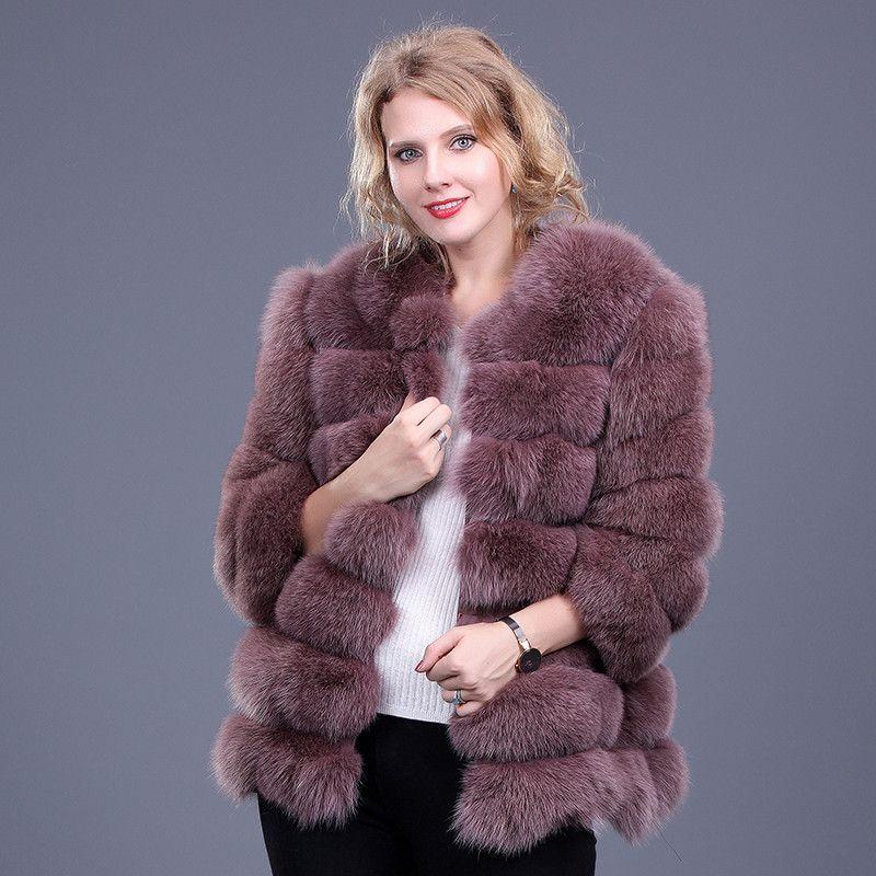 Warm Real Fox Fur Coat Women Short Winter Fur Jacket Natural Fox Fur Coats For Ladies Bontjas Women Fur Coats Abrigo Pelo Mujer