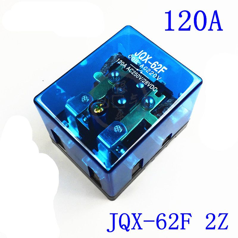 12VDC 24VDC 110VAC 220VAC 120A DPDT Power Electromagnetic Relay Motor Control Screw Mount JQX-62F-2Z 2NO 2NC