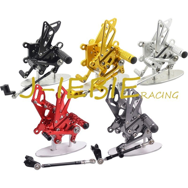 CNC Racing Rearset Adjustable Rear Sets Foot pegs Fit For Aprilia RSV4 RSV4R Tuono V4 R  2009-2016