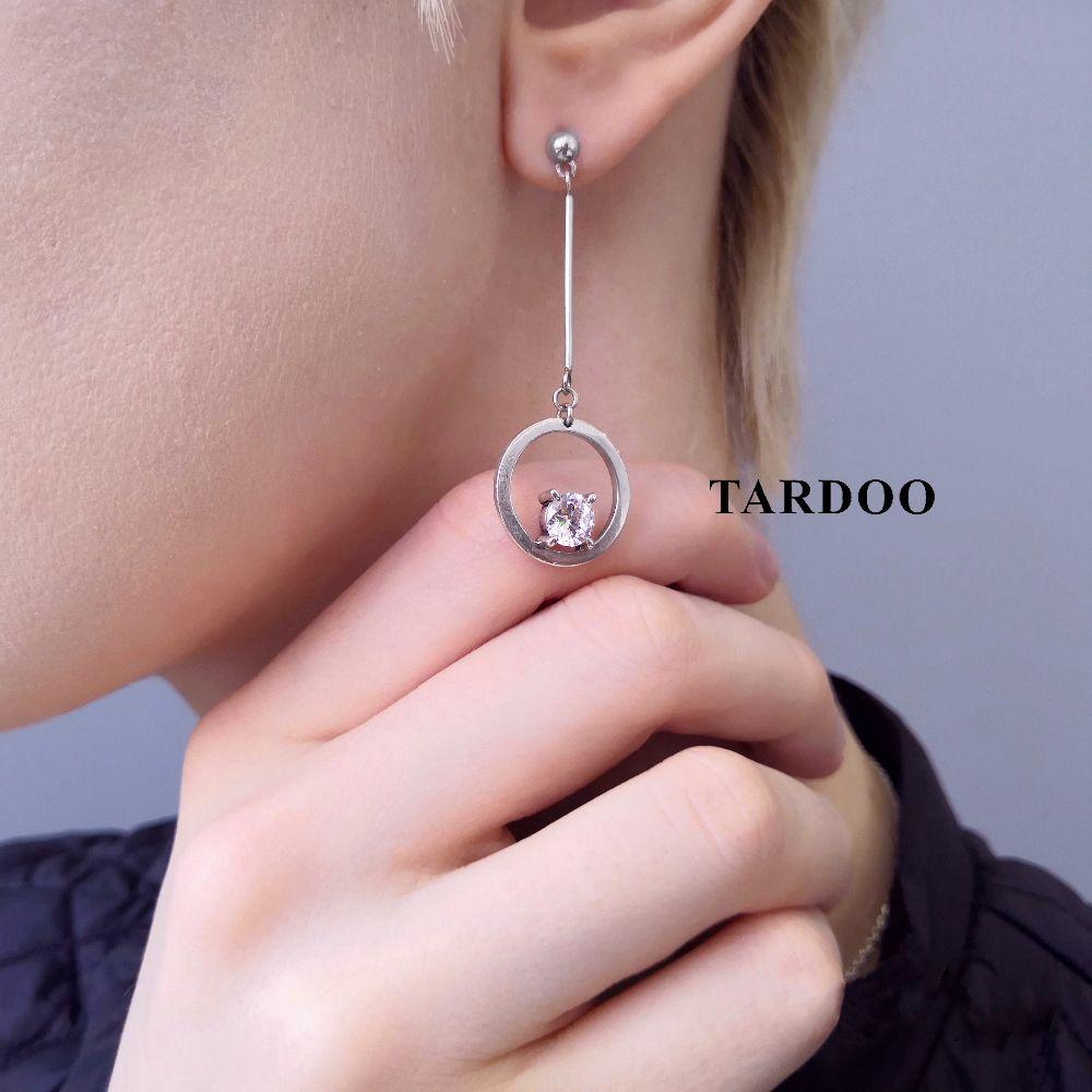 Tardoo Statement Real Silver Long Earrings for Women Asymmetric Dangle Hanging Earring 925 Sterling-silver Luxury Fine Jewelry