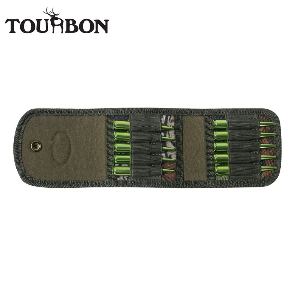Tourbon Hunting Gun Accessories Rifle Cartridges Holder Camo Nylon Ammo Wallet Bullet Pouch <font><b>Carrier</b></font> for Ammunition Case Shooting