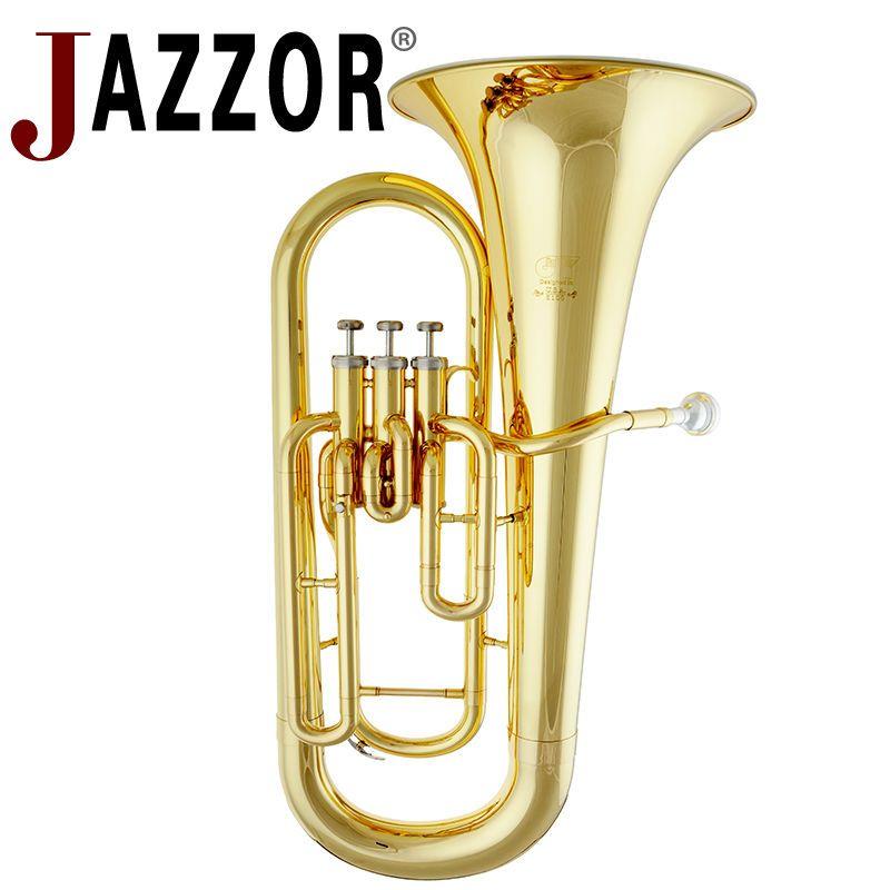 JAZZOR JYEU-E100 Professionelle Euphonium B Flache Gold Lack Messing wind instrument mit mundstück und fall
