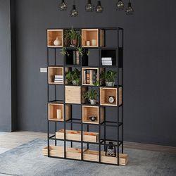 Bibliothèques Meubles De Salon Meubles De Maison en bois + acier étagère armoire industrielle livre stand 120*30*210 cm moderne nouveau