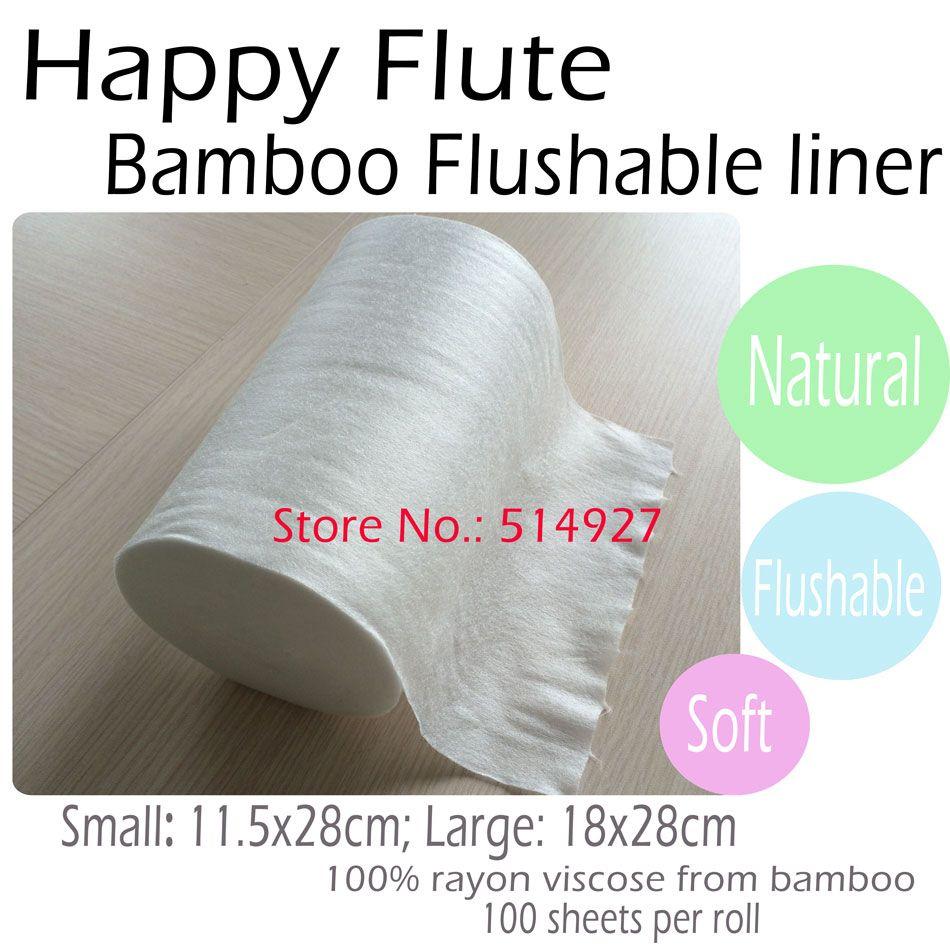Happyflute 100% biodegradable y desechable del pañal del paño liners, 1 roll
