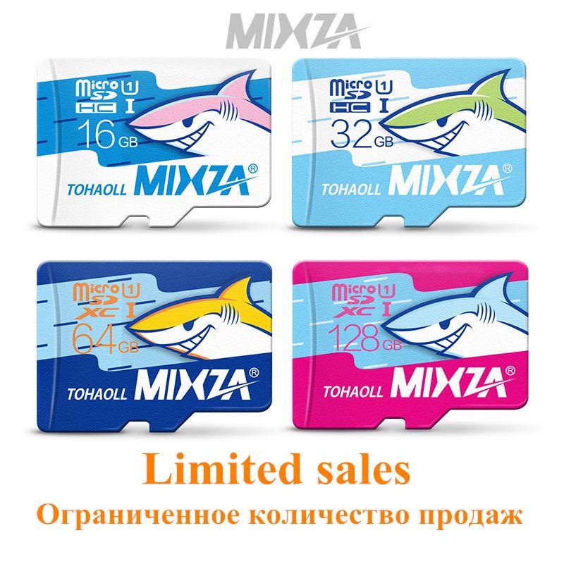 MIXZA Requin édition carte mémoire 8 GB 16 GB 32 GB 64 GB 128 GB micro sd carte class10 flash carte Mémoire microsd pour smartphone