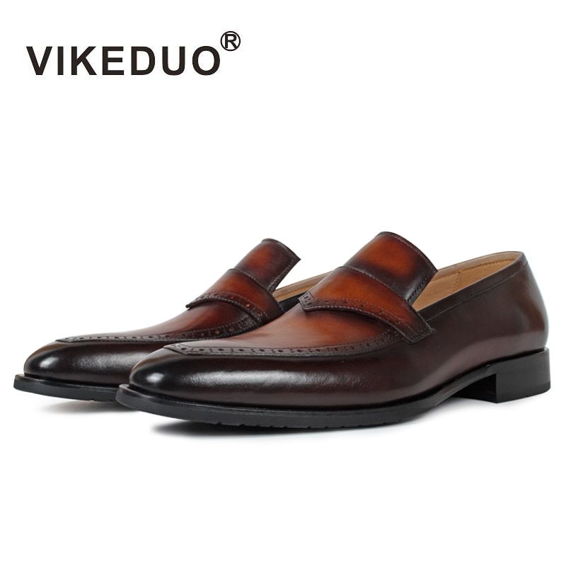 Superstar Vikeduo Handmade Men's Loafer Shoes Custom 100% Genuine Leather Fashion Casual Luxury Wedding Party Original Design