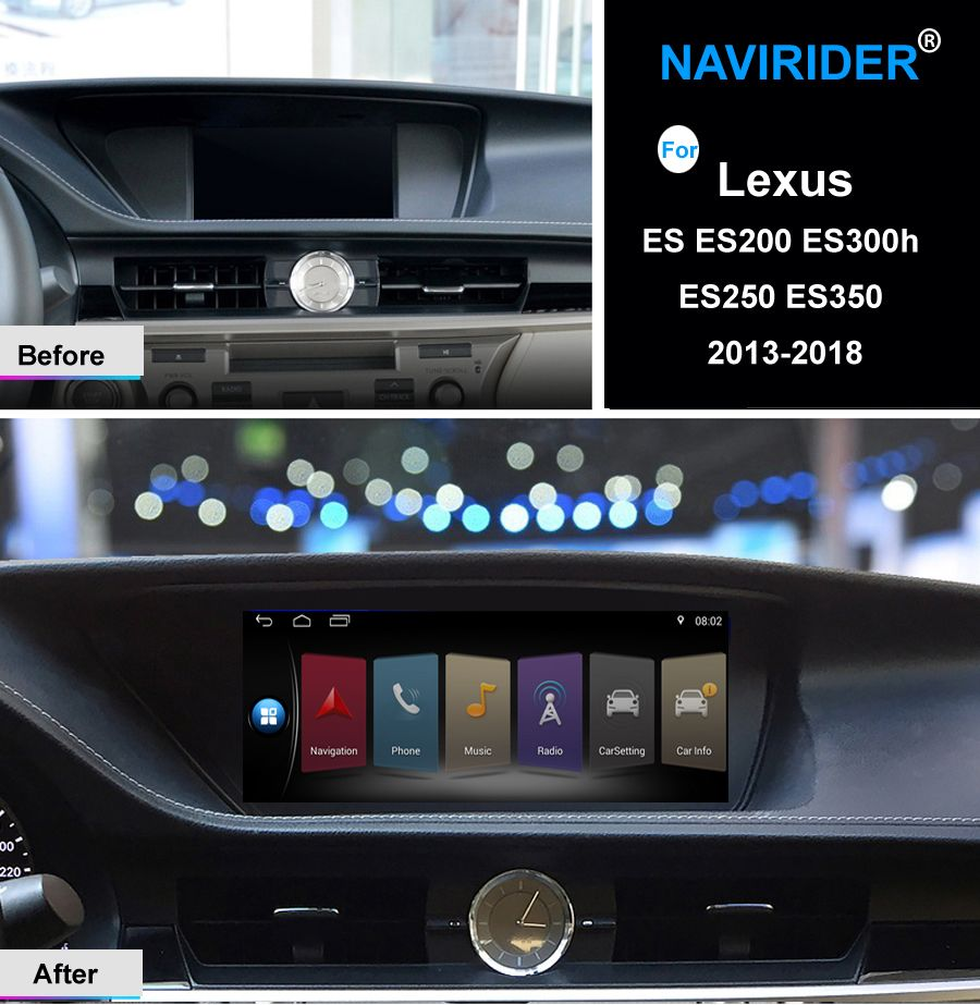 Quad core Android 7.1 Auto multimedia head unit touch screen stereo gps navi Für Lexus es ES200 ES300h ES250 ES350 2013 -2018