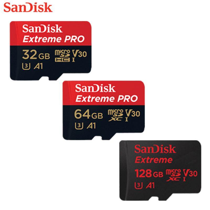 SanDisk Original TF Micro SD Card Extreme Pro Memory Card U3 100MB/s 32GB 64GB 128GB Phone Camera 4K Video Recording