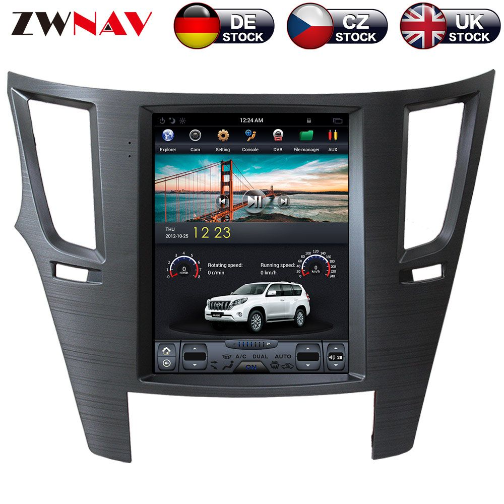 ZWNVA Tesla Stil ISP Bildschirm Android 7.1 Keine DVD-Player GPS Navigation Radio Bildschirm Für Subaru Legacy Outback 2009 2010 2012 2014