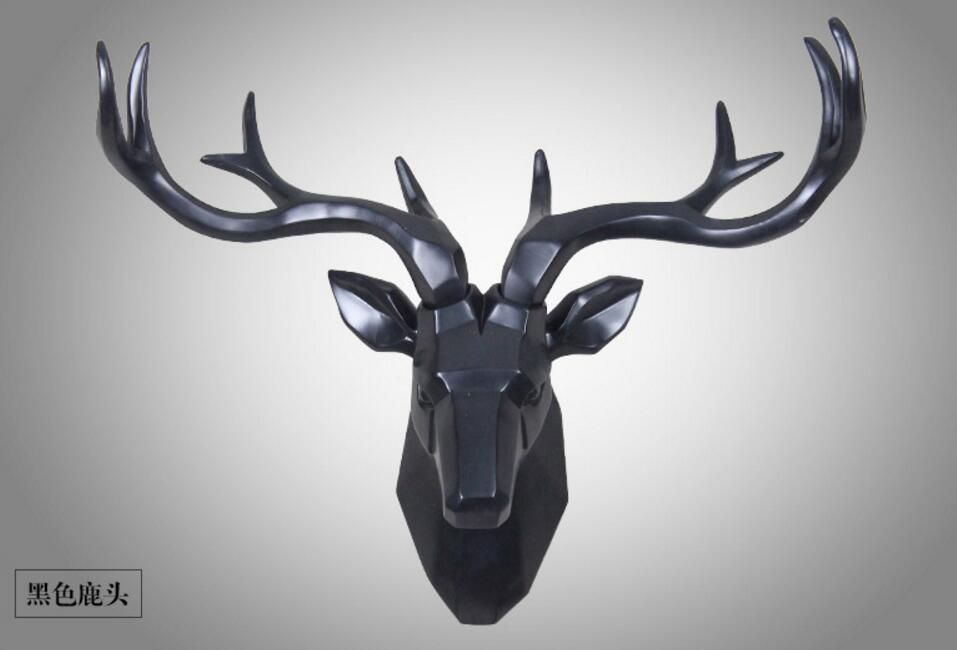 home decoration accessories Geometric deer head statue decorations sculpture estatuas decorativas para casa gift home decor