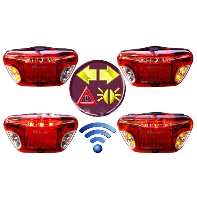 Q-LITE Sicherheit LED Drahtlose Fahrrad Brems Anzeige Rücklicht Fahrrad Gepäckträger-rack Rückleuchten Fernbedienung