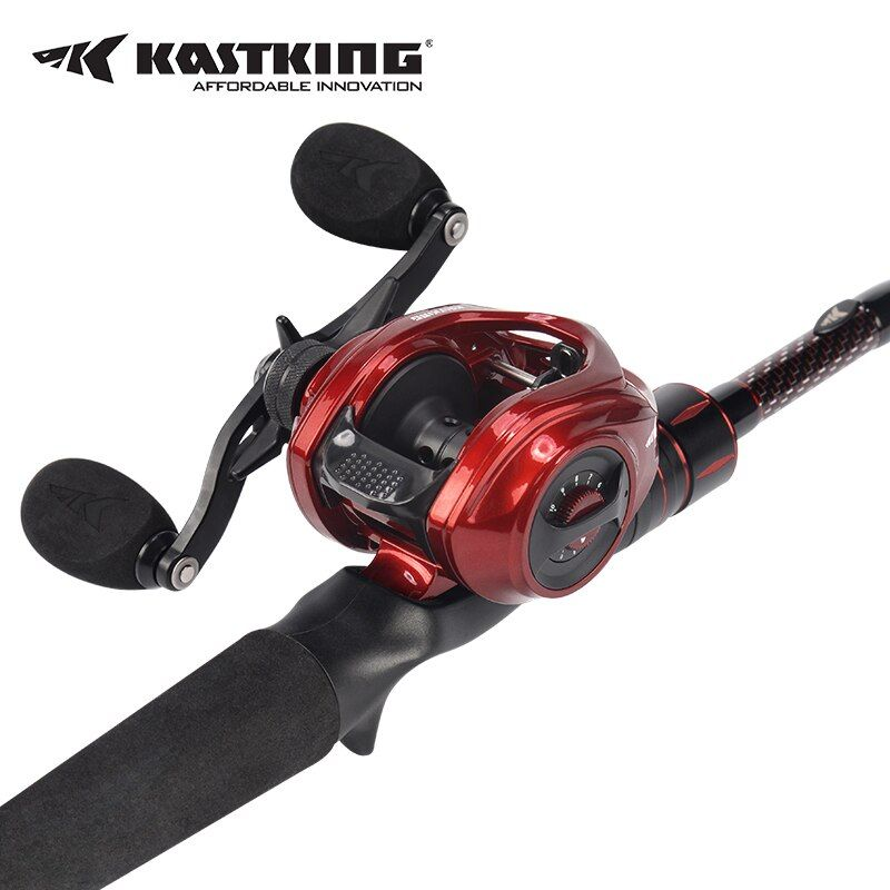 KastKing Royale Legend Elite Baitcasting Reel +Ultralight Carbon Fishing Casting Rod Fishing Rod Combo