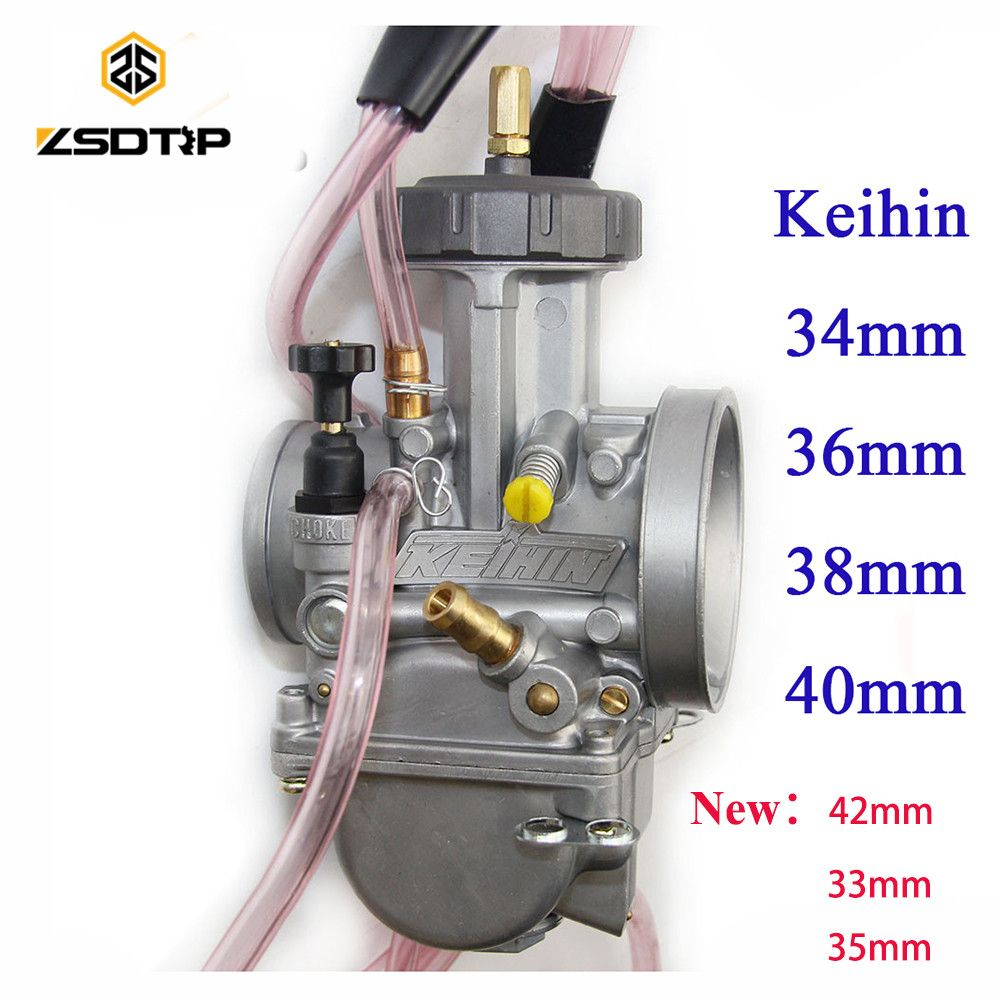 High quality ZSDTRP 34 36 38 40 mm pwk keihin carburetor carburador universal 2T 4T engine motorcycle scooter UTV ATV