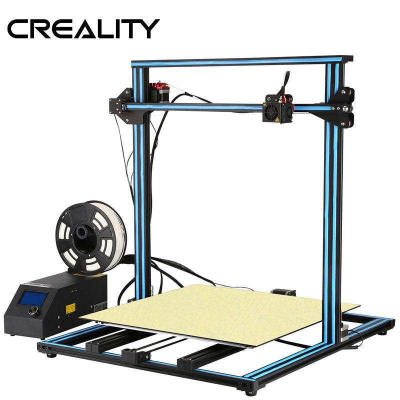 CREALITY 3D Große Druck Größe 500*500mm CR-10 S5, dua Z Stange Filament Sensor/Erkennen Lebenslauf Power Off 3D Drucker DIY Kit