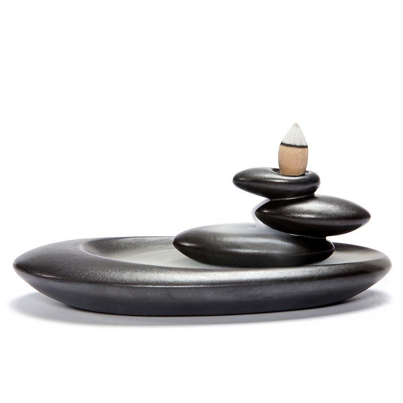 Обратный Ладан горелки Домашний Декор Творческий Керамика буддийский кадило ароматерапия Ладан держатель + 20 шт. Ладан конусов