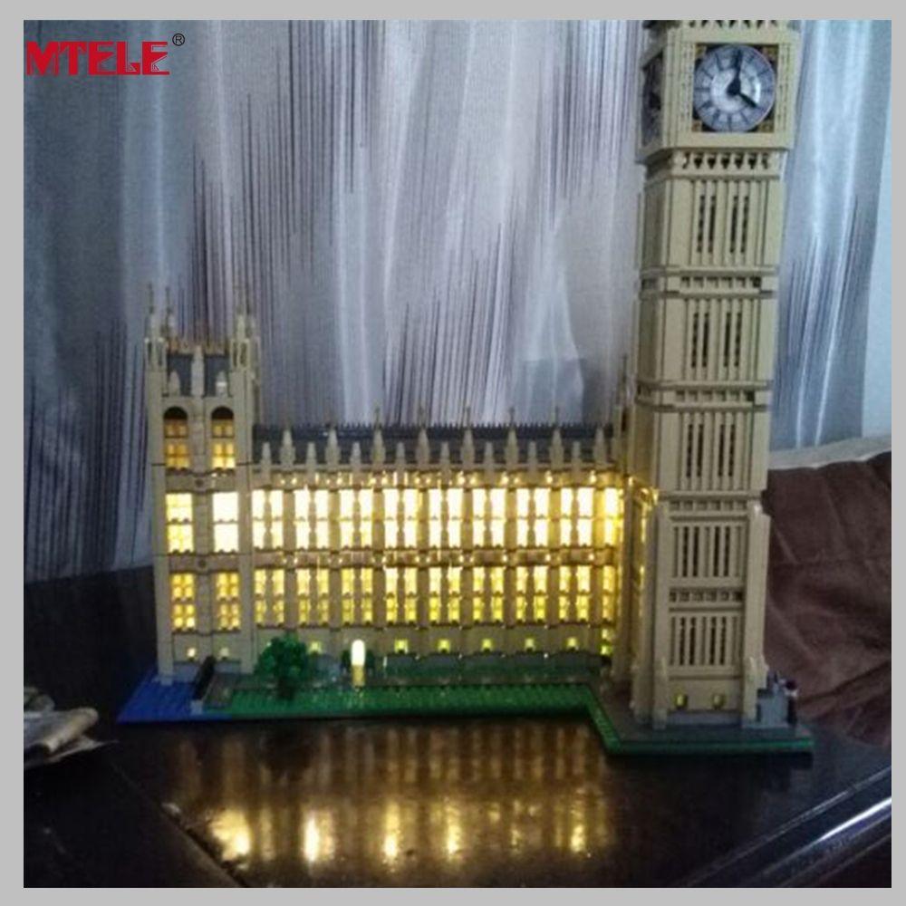 MTELE Marque LED Light Up Kit Pour Ville Créateur Big Ben Building Block Éclairage Ensemble Compatible Avec Lego 10253