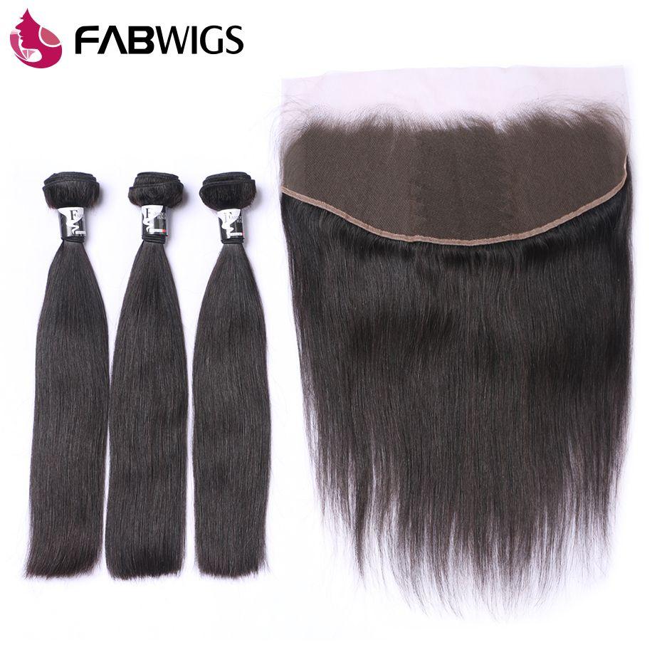Fabwigs Malaysian Hair Bundles with Closure 13x4