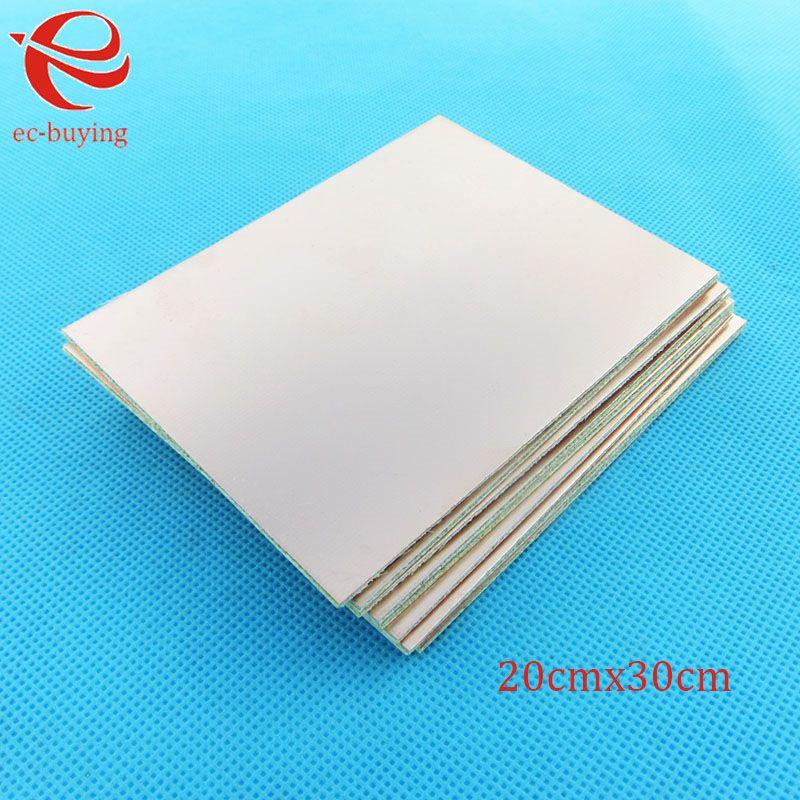 10 stücke/lotCopper Verkleidet Laminat Einer Einseitig Platte CCL 20x30cm1. 5mm FR-4 Universalboard Praxis PCB DIY Kit 200*300*1,5mm