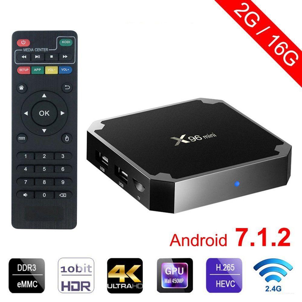 X96 mini tv box Android 7.1.2 2GB 16GB andriod TV BOX Amlogic S905W Quad Core Suppot <font><b>H.265</b></font> UHD 4K WiFi X96mini Set-top box