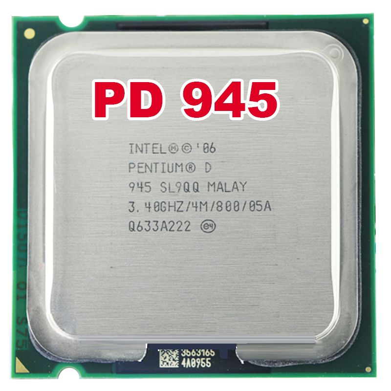 intel Pentium Processor CPU PD 945 PD945 intel D945 D 945 (3.4Ghz/ 4M /800GHz) Socket 775 free shipping