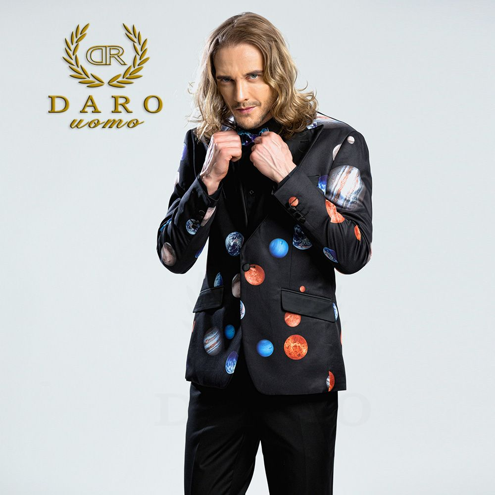 DARO 2018  Men's Printed Blazer casual Slim Fit  Suit Jacket Men Spring Autumn Trend Blazer Fashion Luxury Blazer Hombre DRJ8208