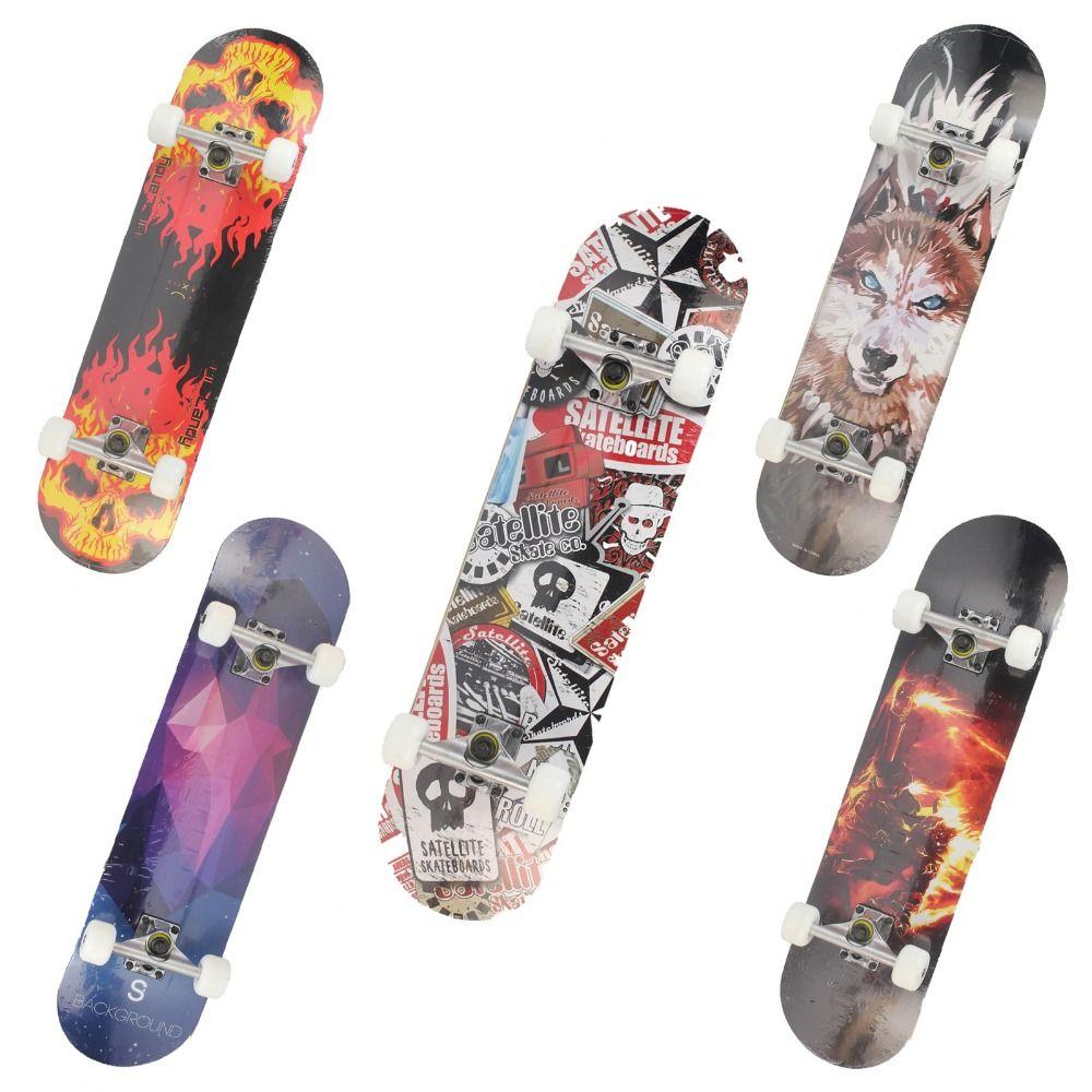 Maple Wood Four Wheel Professional wooden skateboards longboard drift skateboard ABEC-7 chrome steel bearings longboard 5 color