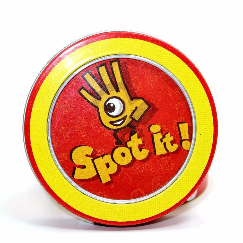 high quality spot it with metal box best gift for the family gathering, imported paper Dobble it board game cards game