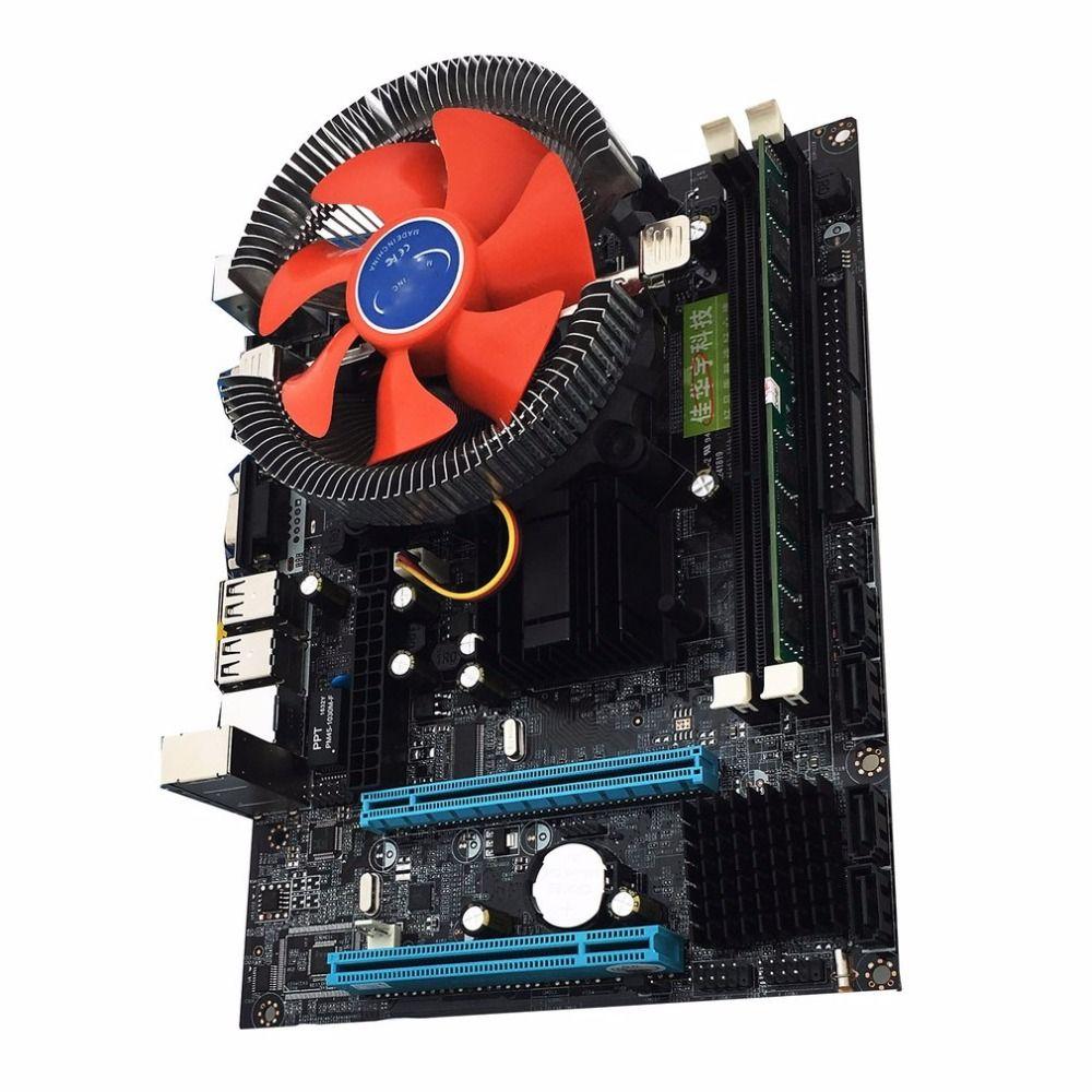 Intel G41 new desktop motherboard Desktop Board LGA775 Quad-core E5430 Combo Set 2.66G CPU + 4G Memory + Silent Fan Computer