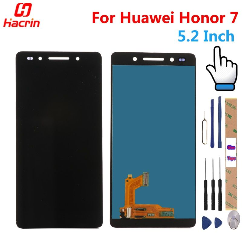 Huawei Honor 7 LCD Display + Touch Screen 100% New honor7 Digitizer Assembly Replacement for 5.2 Inches huawei honor screen
