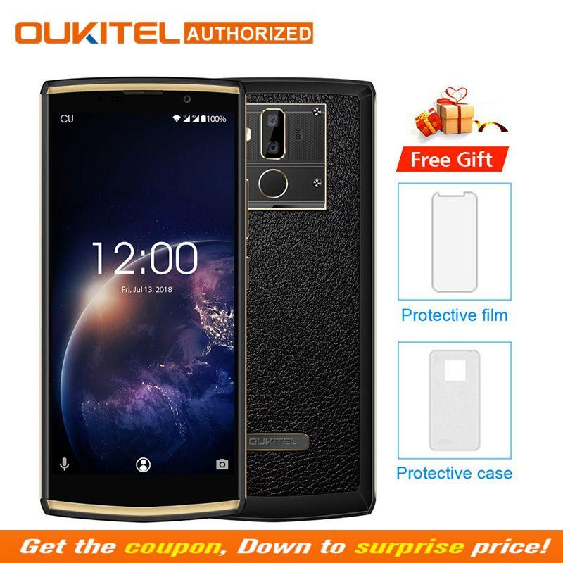 OUKITEL K7 Puissance 2G RAM 16G ROM Mobile Téléphone Android 8.1 MT6750T Octa Core 6.0 HD + 13.0MP + 2.0MP 10000 mAh D'empreintes Digitales Smartphone