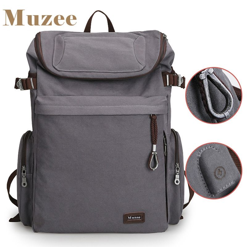 2018 New Muzee Brand Vintage backpack Large Capacity men Male Luggage bag canvas travel bags Top quality travel duffle bag