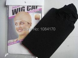 30 pcs/Lot NEW Deluxe Rêve Noir Cap Perruque Extensible Élastique de Cheveux Nette Snood Cap Perruque Hairnet Cheveux Maille