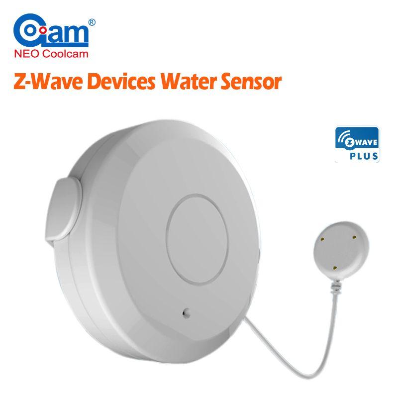 NEO Coolcam Smart Home Z-Wave Plus Flood Sensor Compatible with Z-wave Sensor Alarm Water Leakage Home Automation System