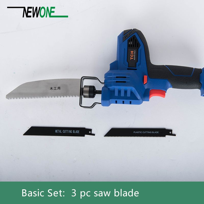 TCH 16V Portable Charging Reciprocating Saw with 4000mAh lithium battery plus Sharp Saw Blades for Wood/Metal/Plastic Cutting