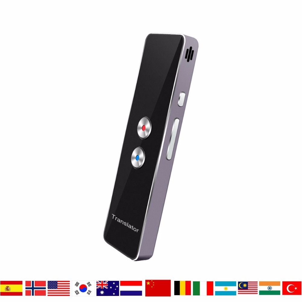 HBUDS Portable Smart Voice Translator Two-Way Real Time Multi-Language Translation For Learning Travelling Business Meeting