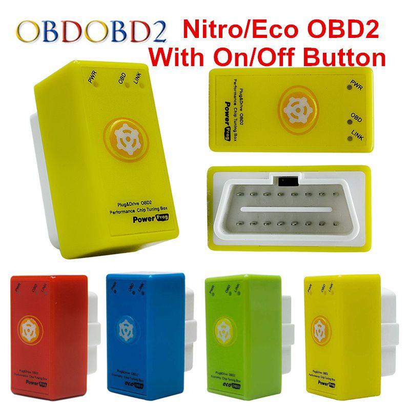 Clearance Sale Power Prog Nitroobd2 Ecoobd2 ECU Chip Tuning Box Nitro OBD2 ECO OBD2 Scanner For Benzine /Diesel Cars Save Fuel