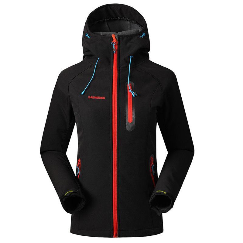 SAENSHING Softshell Jacket Women Brand Waterproof Rain Coat Outdoor Hiking Clothing Female <font><b>Windproof</b></font> Soft Shell Fleece Jackets