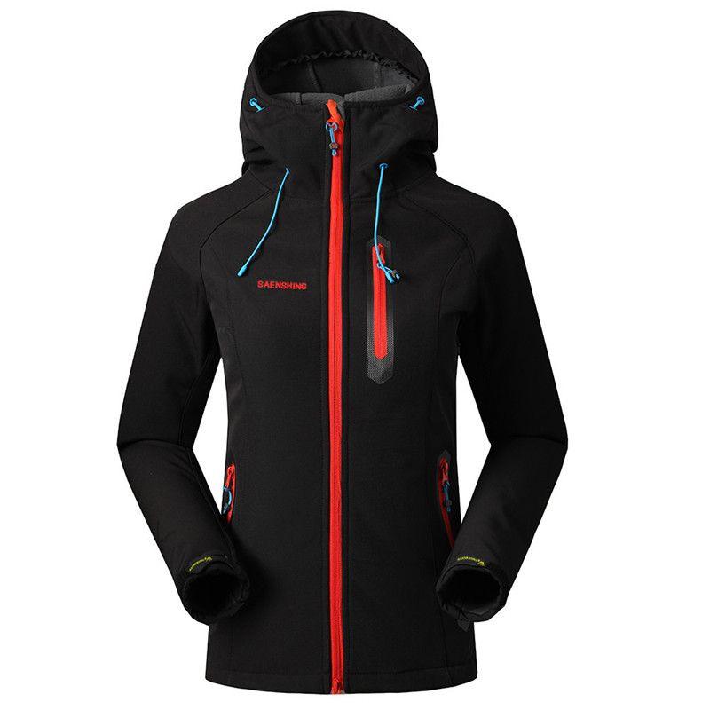 SAENSHING Softshell Jacket Women Brand Waterproof Rain Coat Outdoor Hiking Clothing Female Windproof Soft Shell Fleece Jackets
