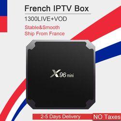 Français iptv boîte 4 k x96 mini android tv box qhdtv neo tv neo tv pro code de football france arabe belgique royaume-uni x96mini smart ip tv box