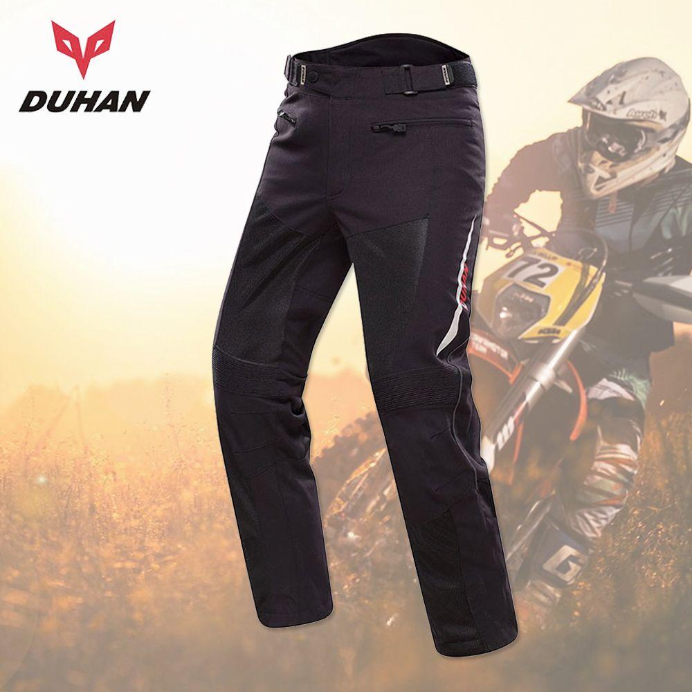 DUHAN Pantalon Moto homme Pantalon Moto Racing tout-terrain été Pantalon maille équipement de protection avec coussinets Pantalon Motocross homme